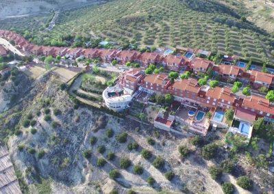 Vista aérea residenciales