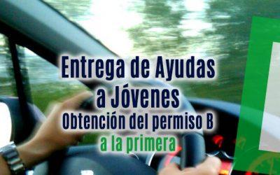 Entrega de las Ayudas a Jóvenes para la obtención del permiso de conducir