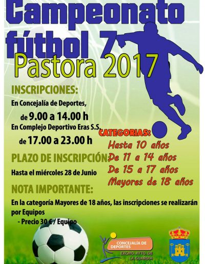 Campeonato de Fútbol 7 Pastora 2017