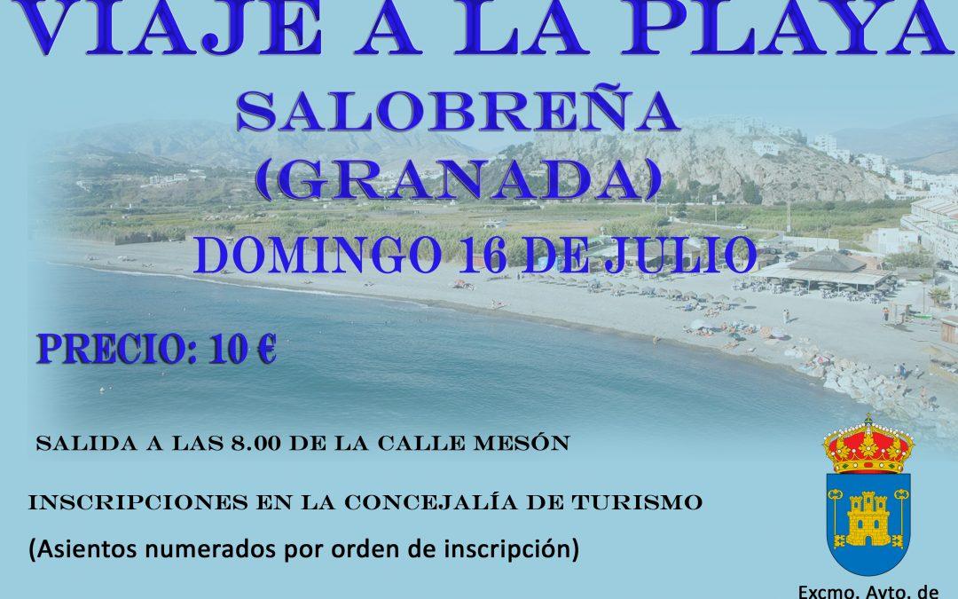 VIAJE A LA PLAYA DE SALOBREÑA