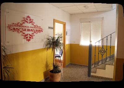 Hall, Oficina y acceso a Habitaciones Hospedería