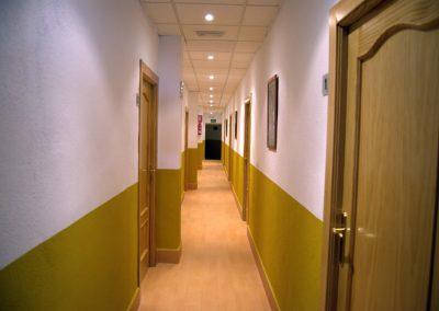 Pasillo Habitaciones Hospedería