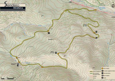 Mapa del Sendero de Gibralberca