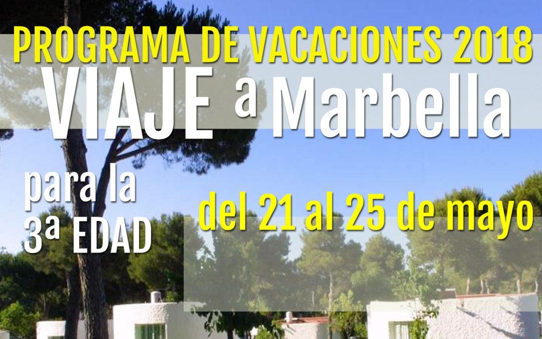 PROGRAMA DE VACACIONES PARA PERSONAS MAYORES 2018