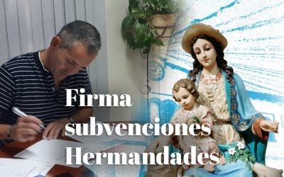 ENTREGA Y FIRMA DE SUBVENCIONES A HERMANDADES DE LA GUARDIA