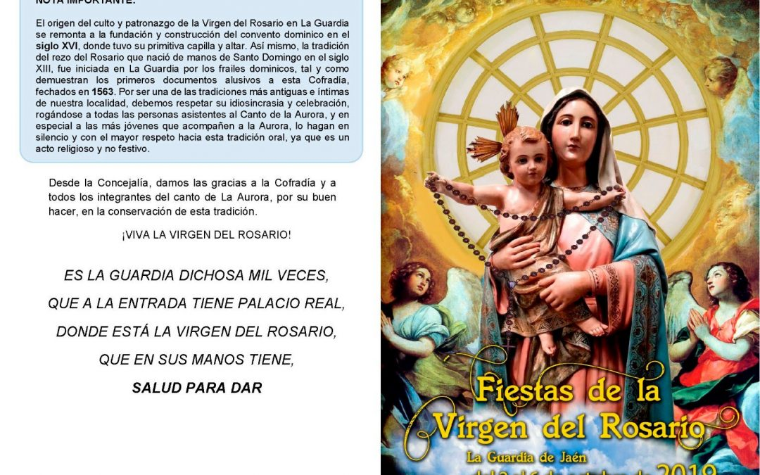 Fiestas en honor a la Virgen del Rosario 2019
