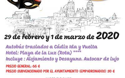 VIAJE A LOS CARNAVALES DE CÁDIZ 2020