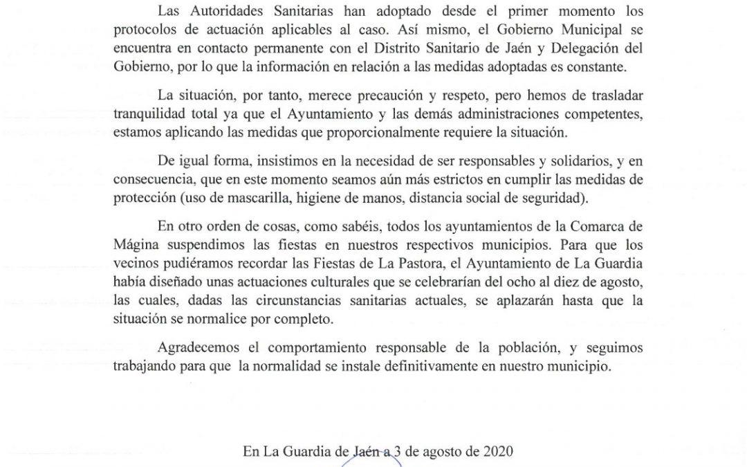 COMUNICADO DEL PORTAVOZ DE GOBIERNO MUNICIPAL