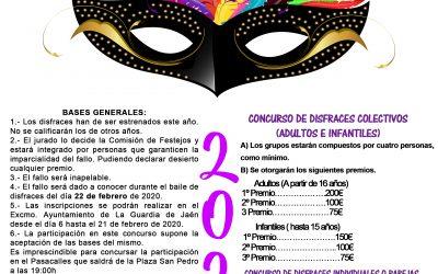 BASES DEL GRAN CONCURSO DE DISFRACES DEL CARNAVAL DE LA GUARDIA 2020