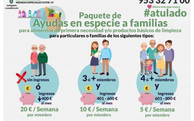 El Ayuntamiento lanza otro paquete de medidas sociales para ayudar a las familias de La Guardia