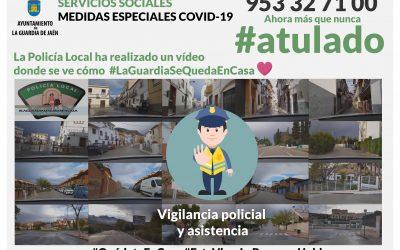 La Policía Local nos muestra que #LaGuardiaSeQuedaEnCasa por el #Covid-19