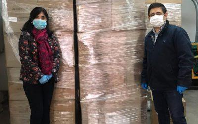 La Guardia recibe 1400 mascarillas de Diputación y adquiere un lote de material sanitario