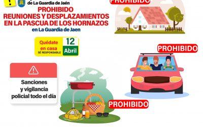 El ayuntamiento avisa de la prohibición de reuniones y desplazamientos el «Día de la Pascua»