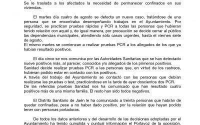 COMUNICADO DEL PORTAVOZ DE GOBIERNO MUNICIPAL SOBRE LA SITUACIÓN DE COVID-19